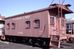 Wooden caboose in the B&O Railroad Museum