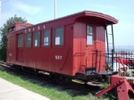 Caboose on the Maine Narrow Gauge Railway