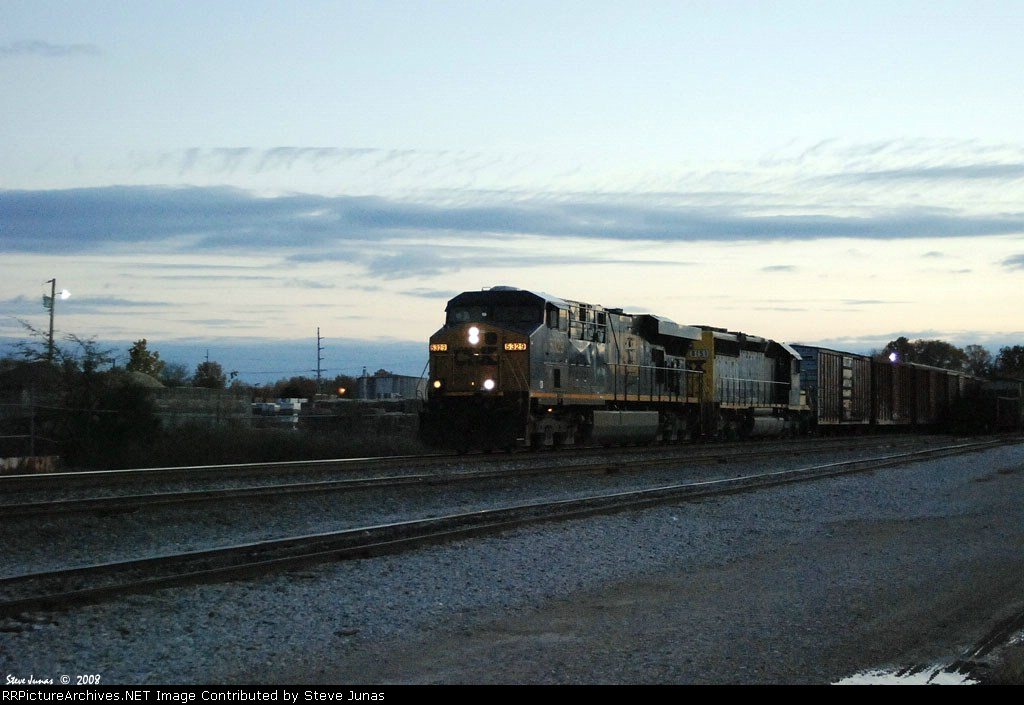 CSX 5329,8151 at dusk