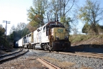 CSX 2218,6943 J768 Pulling hard with a long load