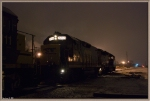 CSX 2244 in light snow in the morning