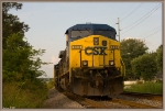 CSX 333 sits in the siding at Morgantown