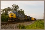 CSX 333,4586 sit in the siding at Morgantown