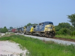 CSX 7733,8782,7735,and 5291  Q574 northbound
