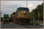CSX 597 flys through the Emmit Drive crossing