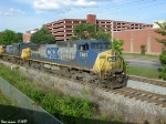CSX 7661,97 Q573 heads into the siding at Morgantown