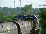 CSX 8097 passes 773 that sits on the main