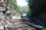 CSX 7857 Q525 Approaches the tunnel