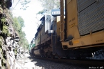 CSX 8400 comes out of the tunnel 2nd on Q211