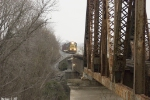 CSX 8410 Q573 approaches the Barren River Bridge