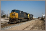 CSX 843 ES44AH,34 of Q275 back up to its train