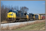 CSX 7379,5401,7604 pull out of the yard