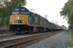 CSX 9999,9993 P910 waits in the siding