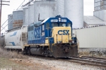 CSX 6094 Y110 Shuffles cars at the south end of the Memphis Junction Yard