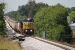 CSX 7395 heads up the grain train northbound