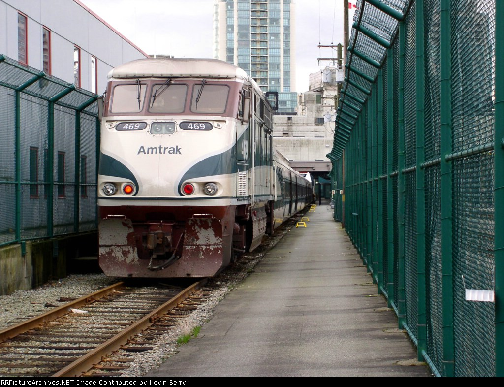 Amtk 469 in the Customs Lockup at Vancouver BC