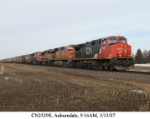 Lots of Power on a Southbound CN Manifest