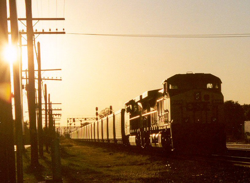 Sunrise over the westward siding