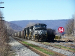 NS 9226 and two other NS Dash 9s with CSX Coal Train