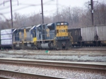 CSX 809 Switching on a Rainy Morning
