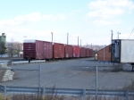 Line of Box Cars