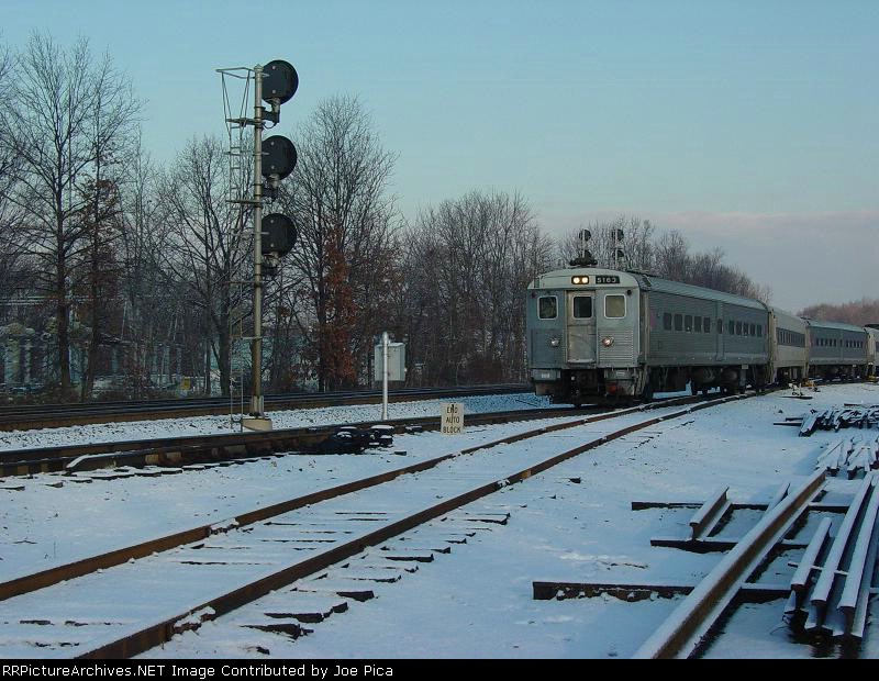 NJT Train 1212 Coming Out Of Waldwick Yard