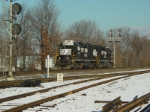 NS Train H-55 eastbound at Waldwick