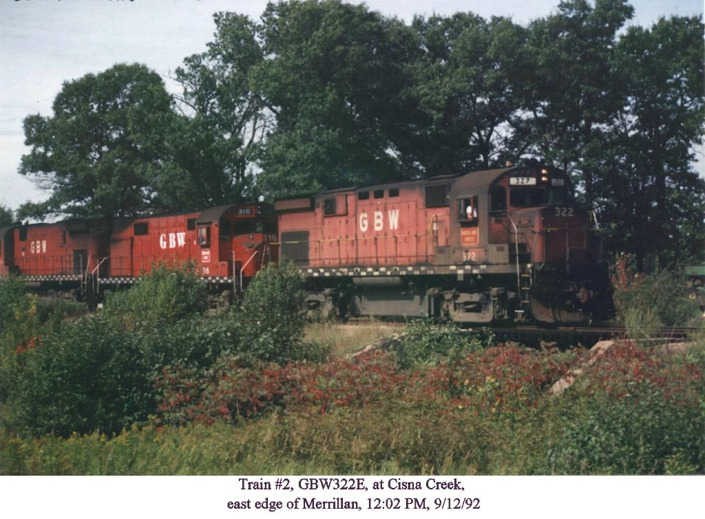 GBW 322E crossing Cisna Creek