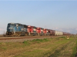 NS 6728 and FXE SD40-2's on BNSF Grain Train