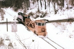 WLE 3034 clears the snow from the line,