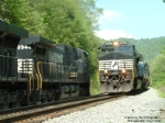 NS 8987 J63 helpers meets Q50 with NS 8944 on the Dry Fork branch at