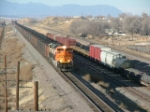 SB UFIX Loads lead by new BNSF SD70ACe 9397