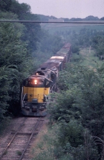 1074-05 Eastbound CNW Morton Sub. freight