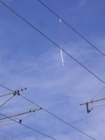 Icicle hanging off of the Catenary