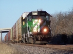 Southbound Auto Train With Ex-BN SD40-2's