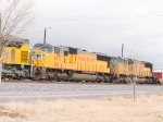 UP 4073 #2 in WB intermodal at 2:18pm