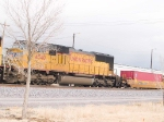 UP 4540 #3 power in WB intermodal at 2:18pm