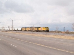 UP 8321 waits for a WB to clear to begin his EB manifest run at 2:42pm