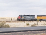 UP 2695 leads in a work train at 3:07pm