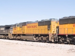 UP 4124 #3 power in EB intermodal at 10:00am