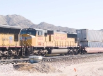 UP 4004 #4 power in WB intermodal at 10:29am