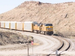 UP 5315 leads a string of empty autoracks EB at 12:35pm