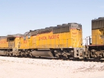 UP 3327 #3 power in EB intermodal at 10:24am