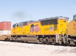 UP 5197 #5 power in EB intermodal at 10:24am