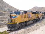 UP 4981 lead in EB ballast train at 12:45pm