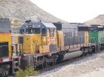 LTEX 8971 #3 power in EB ballast train at 12:45pm