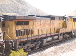 UP 9734 #2 power in EB intermodal at 1:34pm