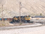 UP 8321 leads a WB intermodal at 12:01pm
