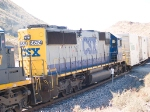 CSX 8624 #3 power in EB doublestack at 1:15pm
