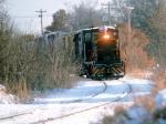 1421-18 MNNR 306 approching SOO Line crossing